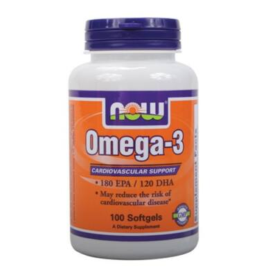 NOW Omega-3 (100 kapszula)