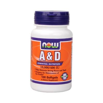 NOW A&D vitamin 10.000/400 IU (100db)