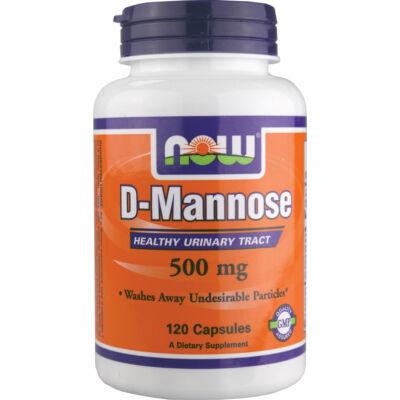 NOW D-mannose 500 mg 120 kapszula