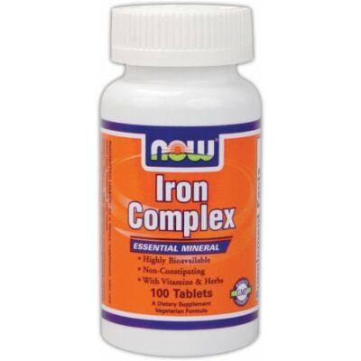 NOW Iron Complex (100 db tabletta)