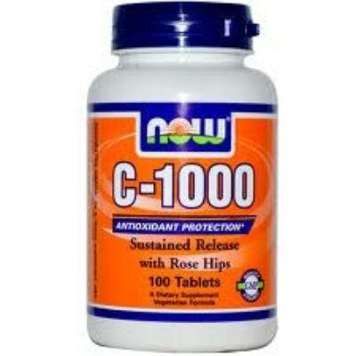 NOW C-1000 SR csipkebogyóval (100 tabletta)