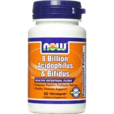 NOW Acidophilus Bifidus 8 Billion (60db)