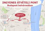 Ingyenes átvételi pont Budapest belvárosában